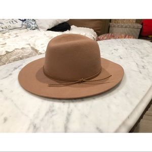 Floppy Felt Hat with Braided Band - Adjustable